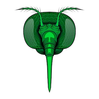 Ilustración de vector de cabeza de mosquito