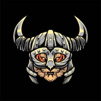 Ilustración de vector de cabeza de tigre, estilo de dibujos animados moderno adecuado para camisetas o productos impresos