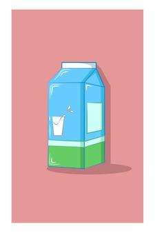 Ilustración de vector de caja de leche