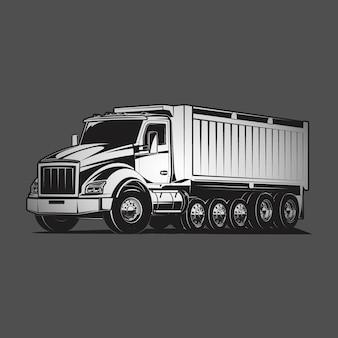 Ilustración de vector de camión volquete