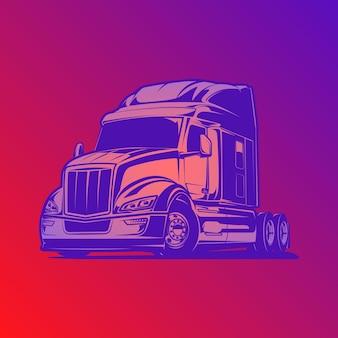 Ilustración de vector de camión