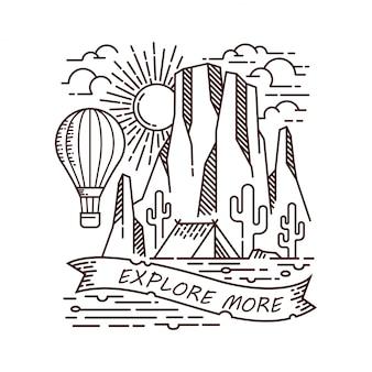 Ilustración de vector de camping