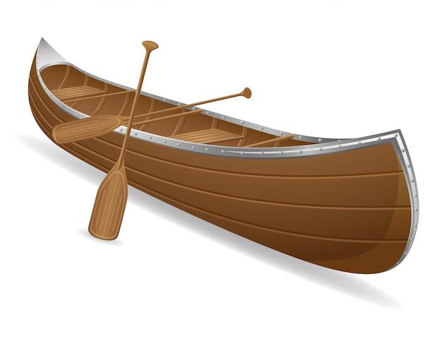 Ilustración de vector de canoa