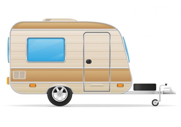 Ilustración de vector de caravana de remolque