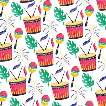 Ilustración de vector de carnaval de brasil