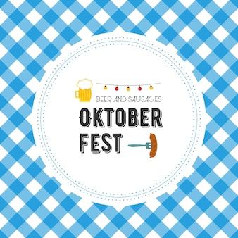 Ilustración de vector de cartel oktoberfest