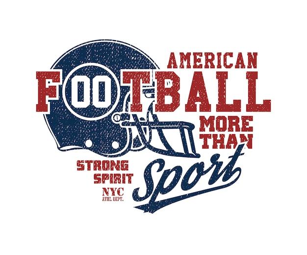 Ilustración de vector de casco de fútbol americano
