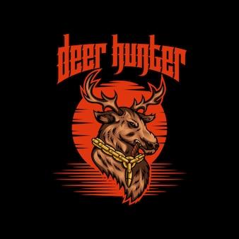Ilustración de vector de cazador de ciervos