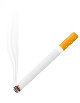 Ilustración de vector de cigarrillo encendido