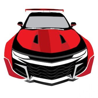 Ilustración de vector de coche deportivo