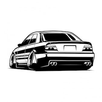 Ilustración de vector de coche jdm
