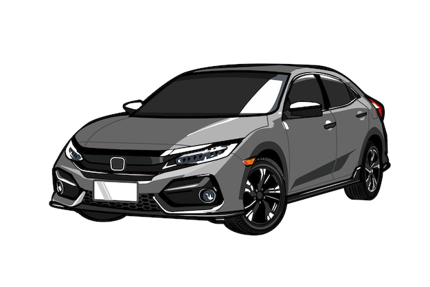 Ilustración de vector de coche