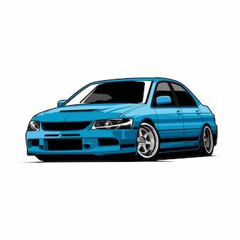 Ilustración del vector del coche