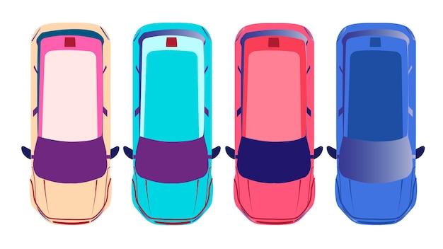 Ilustración de vector de coches aislados