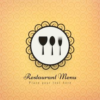 Ilustración de vector de colores de fondo de iconos de restaurante