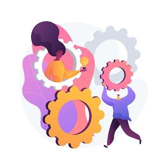 Ilustración de vector de concepto abstracto de actividades stem. stem durante la cuarentena, actividad divertida de aprendizaje en el hogar, entretenimiento científico de autoaislamiento, desafío de ingeniería para niños, metáfora abstracta.