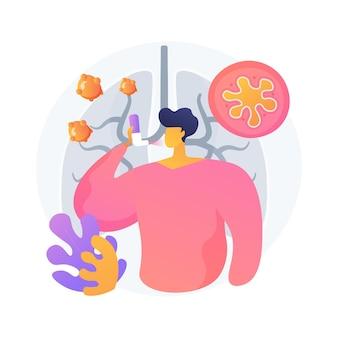 Ilustración de vector de concepto abstracto de anafilaxia. ayuda de reacción alérgica severa, tratamiento de choque por anafilaxia, caso de alergia de emergencia, hipersensibilidad, metáfora abstracta de causa y síntomas.
