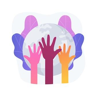 Ilustración de vector de concepto abstracto de carrera. discriminación racial, derechos humanos, color de piel, diversidad humana, código genético, racismo y equidad racial en el lugar de trabajo, metáfora abstracta de justicia social.