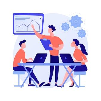 Ilustración de vector de concepto abstracto de cultura de lugar de trabajo. valores compartidos, sistemas de creencias, actitud en el trabajo, equipo de la empresa, cultura corporativa, alto rendimiento, metáfora abstracta de la salud de los empleados.