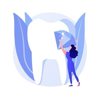 Ilustración de vector de concepto abstracto de dientes de joyería de parrillas. cultura hip hop, con parrillas doradas, joyas dentales, piedras preciosas, dientes extraíbles, metáfora abstracta de fabricación personalizada.