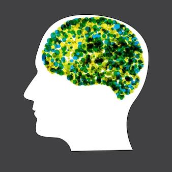 Ilustración de vector de concepto de cerebro humano