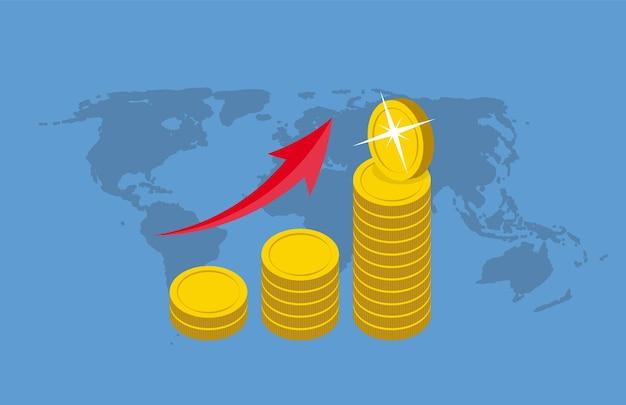 Ilustración de vector de concepto de diseño plano de dinero. eps10
