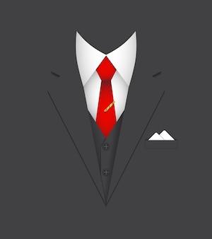 Ilustración de vector de concepto de persona líder de traje de negocios