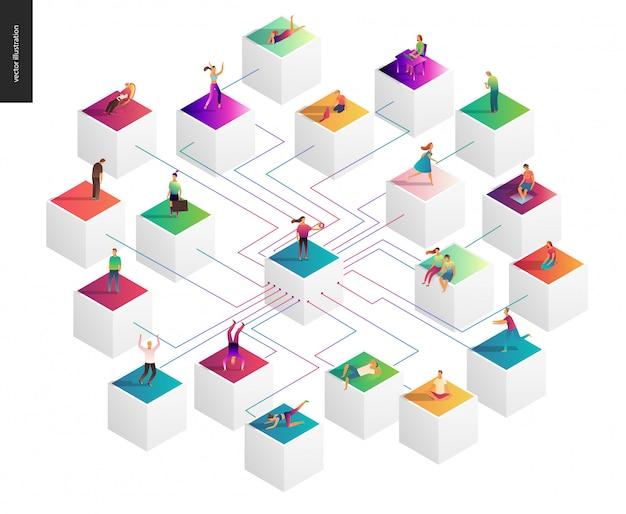 Ilustración de vector de concepto de red