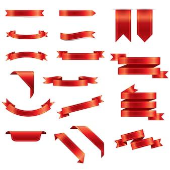 Ilustración del vector: conjunto de cintas