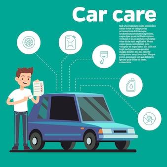Ilustración del vector de consejos de coches