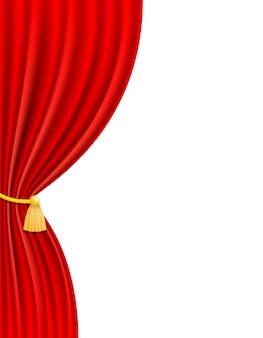 Ilustración de vector de cortina teatral rojo