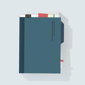 Ilustración de vector de cuaderno diario icono