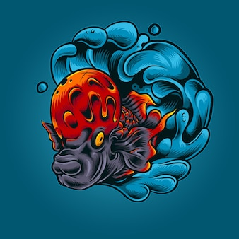 Ilustración de vector de cuerno de flor