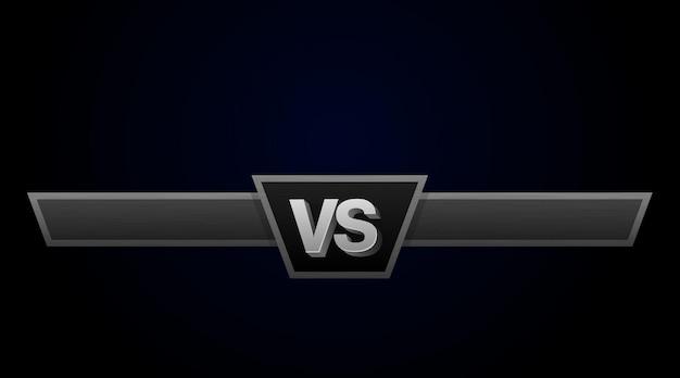 Ilustración de vector de desafío de duelo vs. versus tablero de rivales, con espacio para texto.