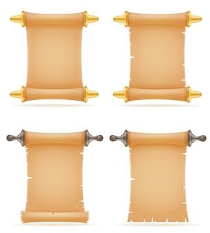 Ilustración de vector de desplazamiento de papel viejo