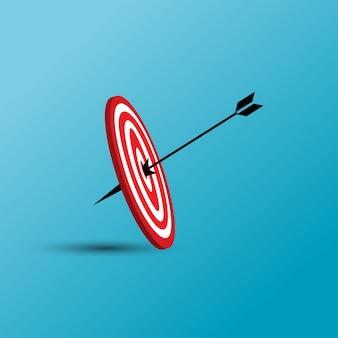 Ilustración de vector de destino con el icono de flecha