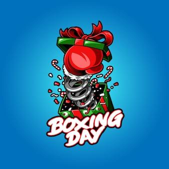 Ilustración del vector del día de boxeo