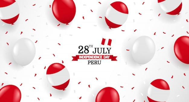 Ilustración de vector del día de la independencia de perú.