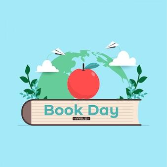 Ilustración de vector de día de libro