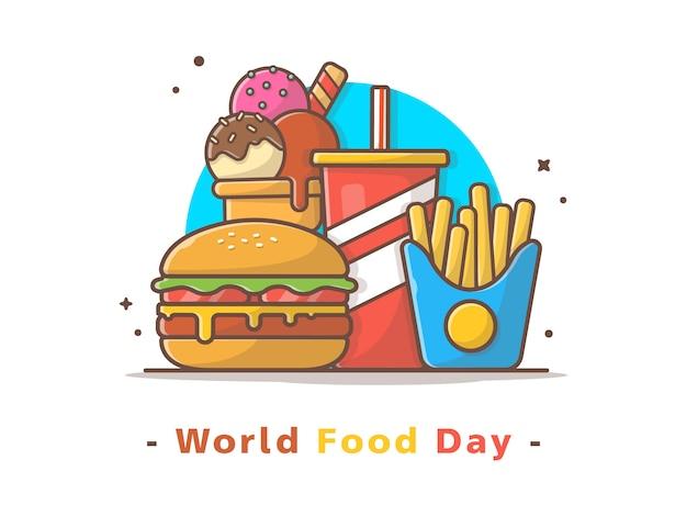 Ilustración de vector del día mundial de la alimentación