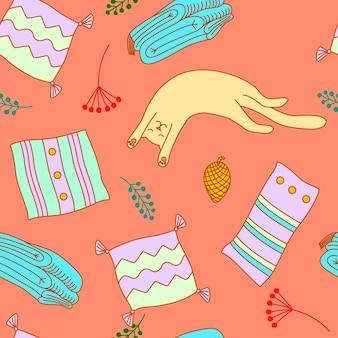 Ilustración de vector dibujado a mano de fondo transparente con cosas de navidad e invierno