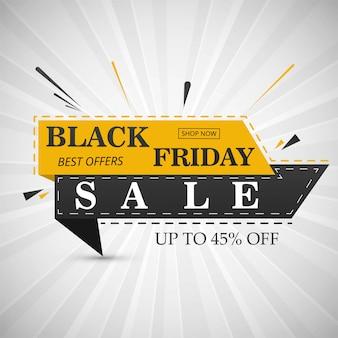 Ilustración de vector de diseño de diseño de banner de venta de viernes negro