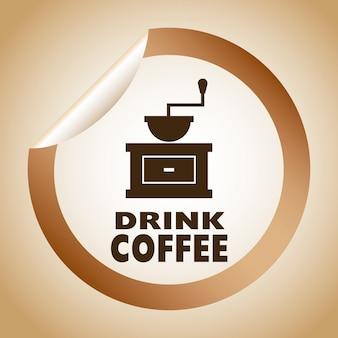 Ilustración de vector de diseño gráfico de café