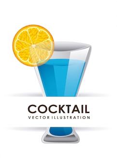 Ilustración de vector de diseño gráfico cóctel