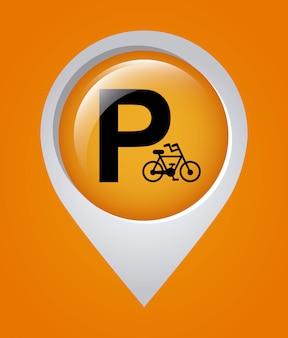 Ilustración de vector de diseño gráfico de estacionamiento
