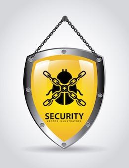 Ilustración de vector de diseño gráfico de seguridad