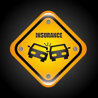 Ilustración de vector de diseño gráfico de seguro