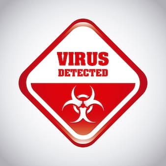 Ilustración de vector de diseño gráfico de virus