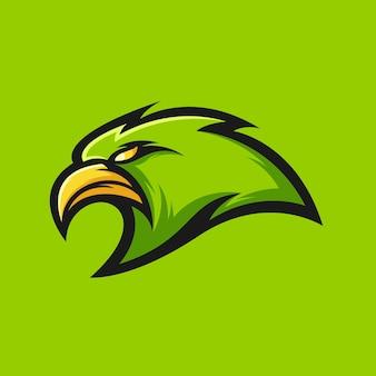 Ilustración de vector de diseño de logotipo de águila