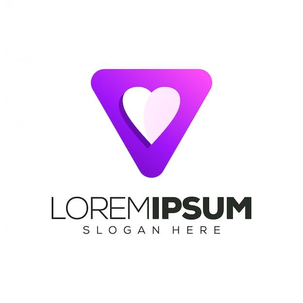 Ilustración de vector de diseño de logotipo de amor